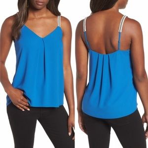 1. State Embroidered Strap Royal Blue Camisole